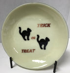 Bowl - Cream Trick or Treat with Black Cats