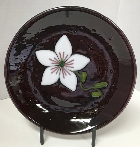 Bowl - Purple with Flower