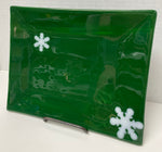 Tray - Green with Snowflakes
