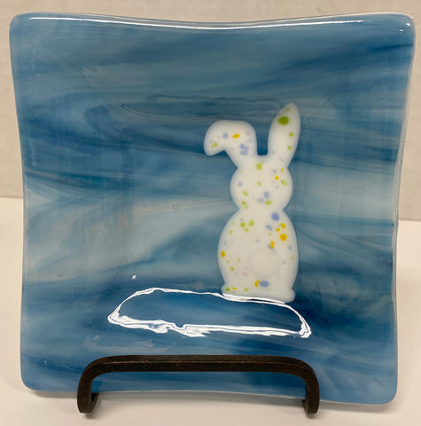 Dish - Blue Easter Bunny