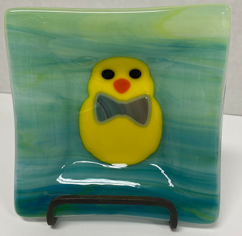 Dish - Green Easter Chick