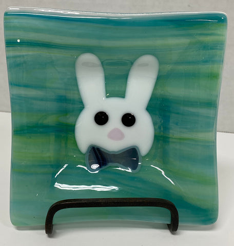 Dish - Green Easter Rabbit