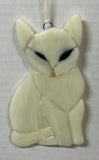 Ornament - Cat, White
