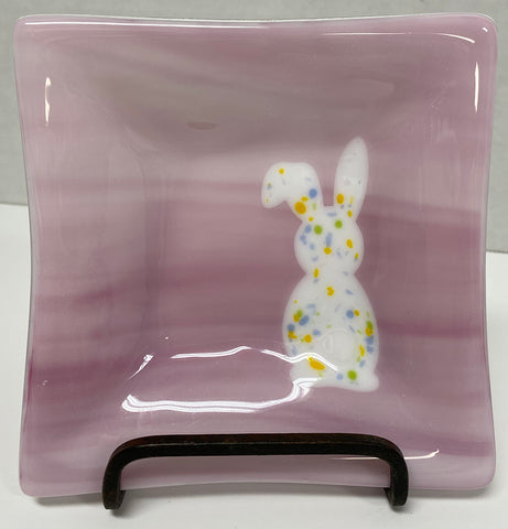 Dish - Pink Easter Bunny