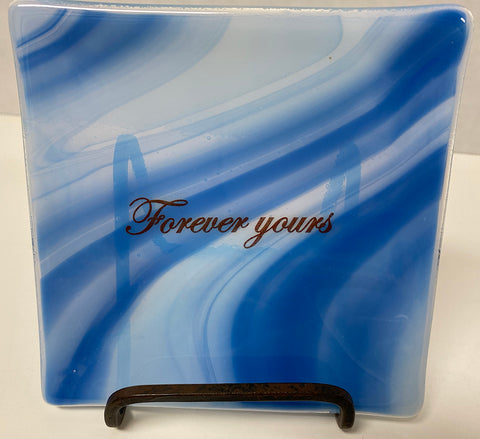 Plate - Blue, Forever Yours