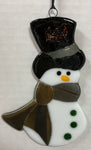 Suncatcher - Snowman - Brown