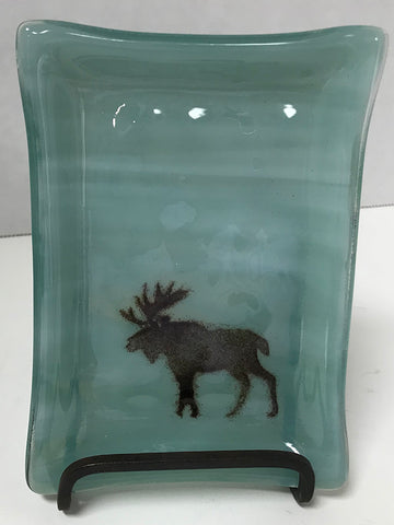Soap Dish - Seafoam with Moose
