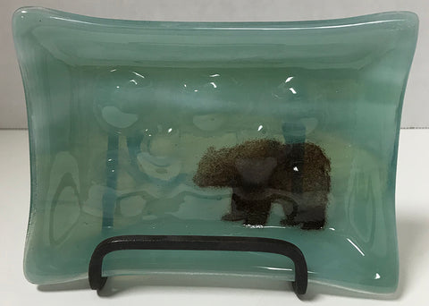 Soap Dish - Seafoam with Bear