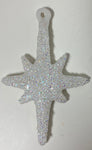 Vintage - White Tall Sparkle  Star