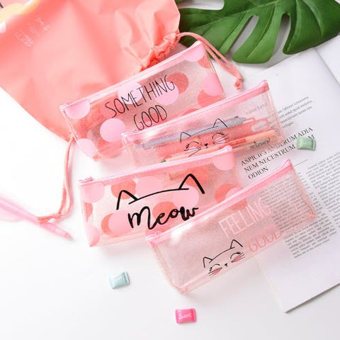 Meow Transparent Pencil Case
