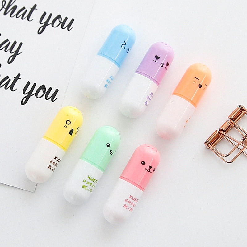 Capsule Highlighter (Set of 6)