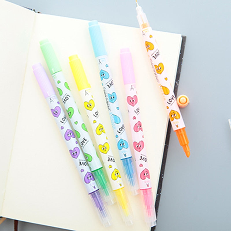Retro Heart Highlighter (Set of 6)