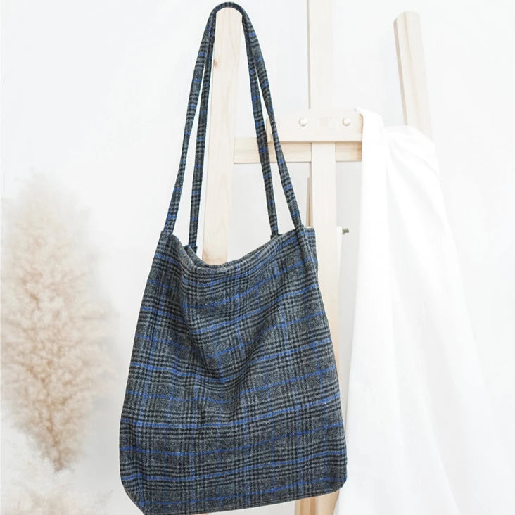 Plaid Tote Bag