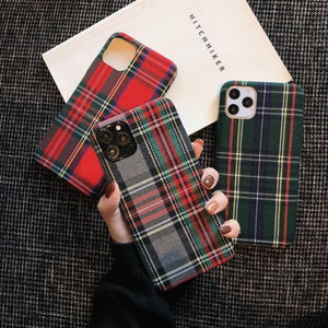Retro Plaid iPhone Case