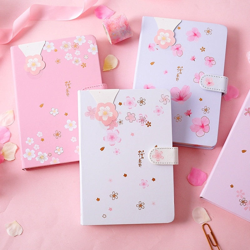 """Pink Flowers"" Notebook"