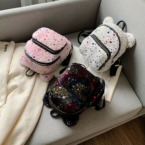 Starry Plush Backpack