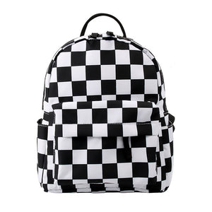 Black & White Checkered Backpack