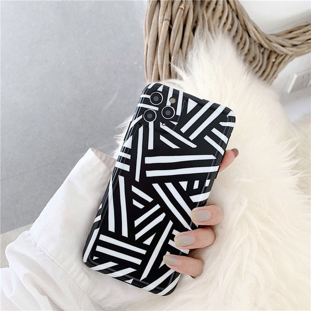 Black & White Stripes iPhone Case