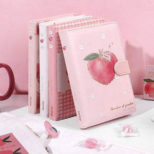 Peach Faux Leather Notebook