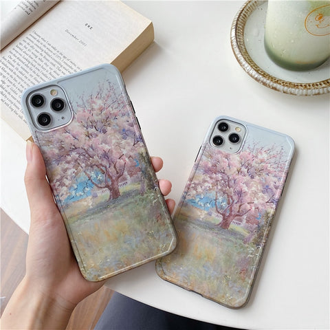 Sakura Painting iPhone Case