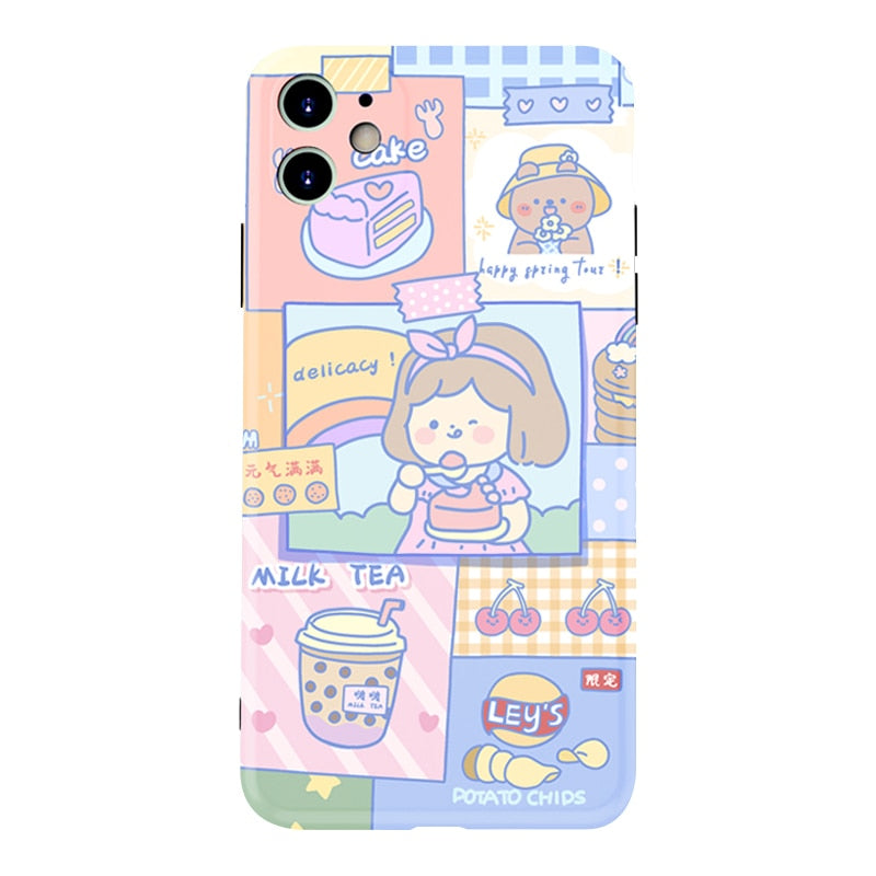 Cartoon Girl iPhone Case