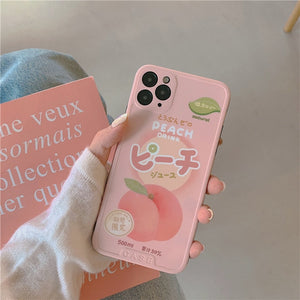 Kawaii Peach Drink iPhone Case