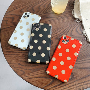 Gold Polka Dots iPhone Case