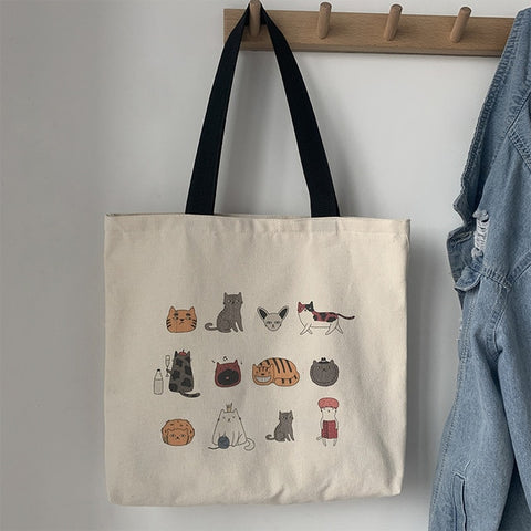 Kawaii Cats Tote Bag