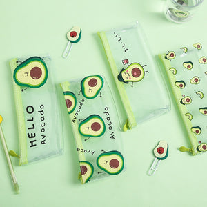 Avocado Transparent Pencil Case