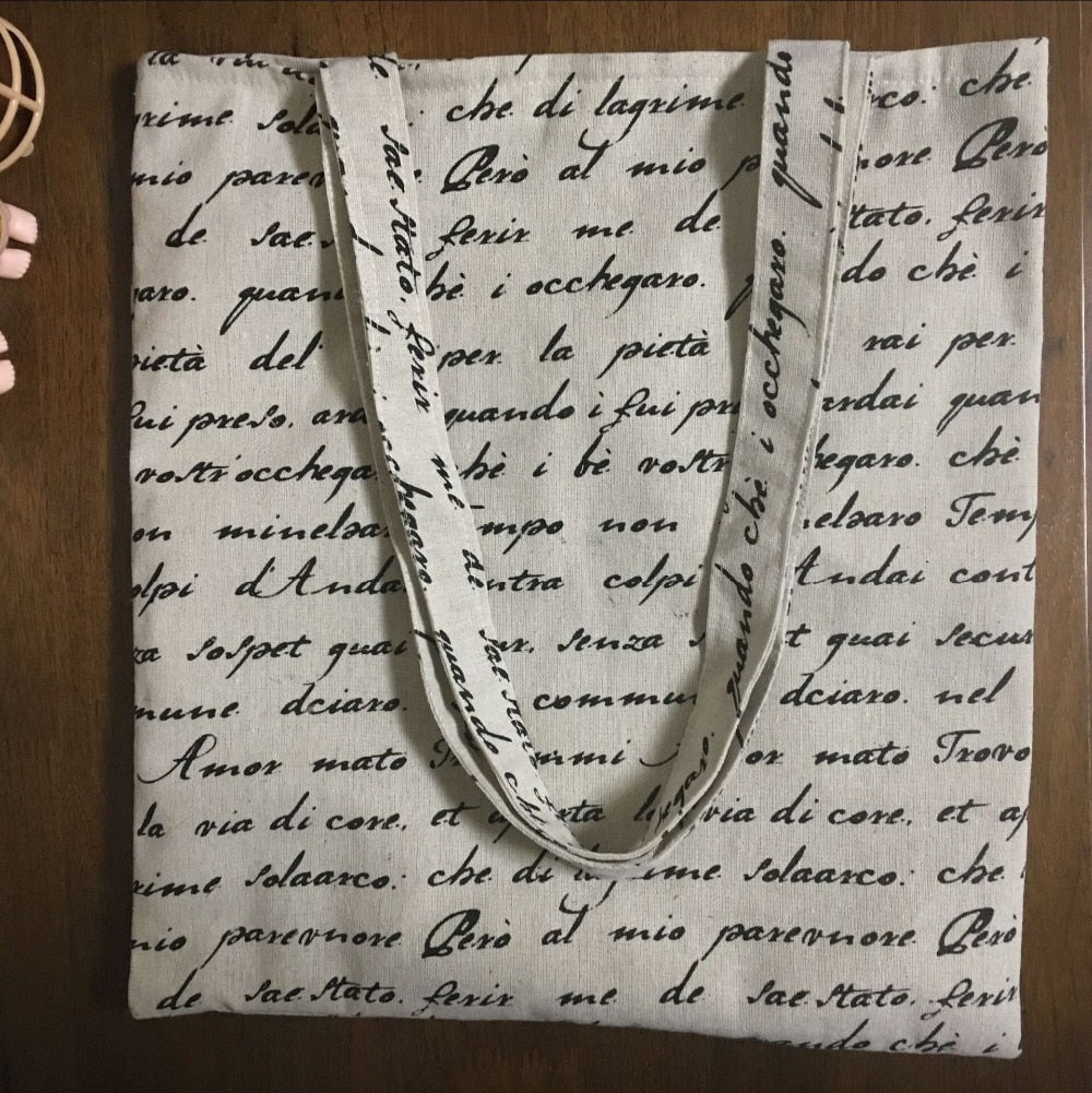 Handwritten Letter Tote Bag