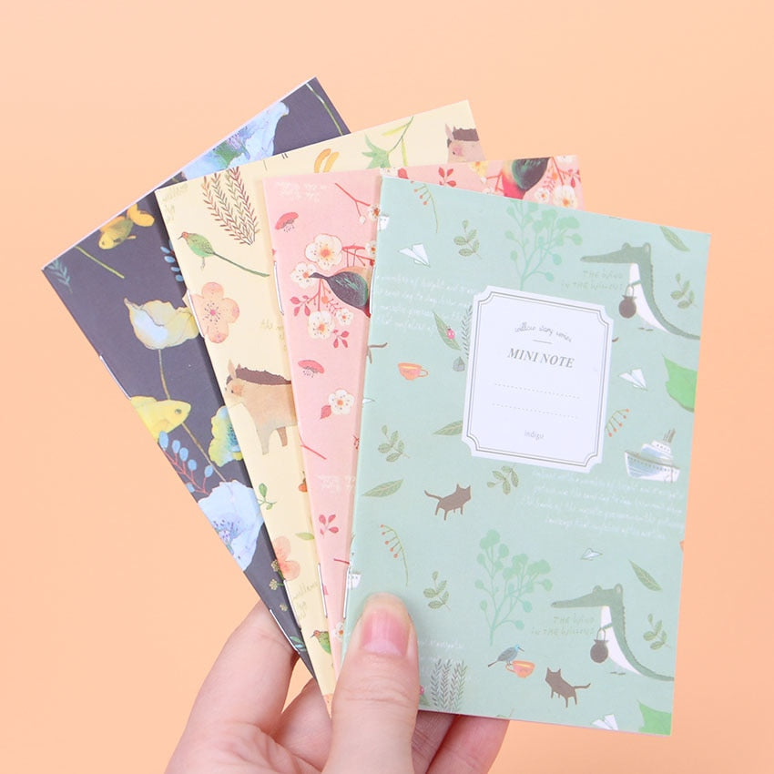 Mini Floral & Animal Notebook (Set of 4)