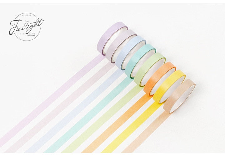 Candy Color Washi Tape (Set of 12)