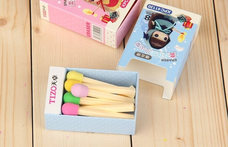 Matchsticks Eraser (Set of 8)