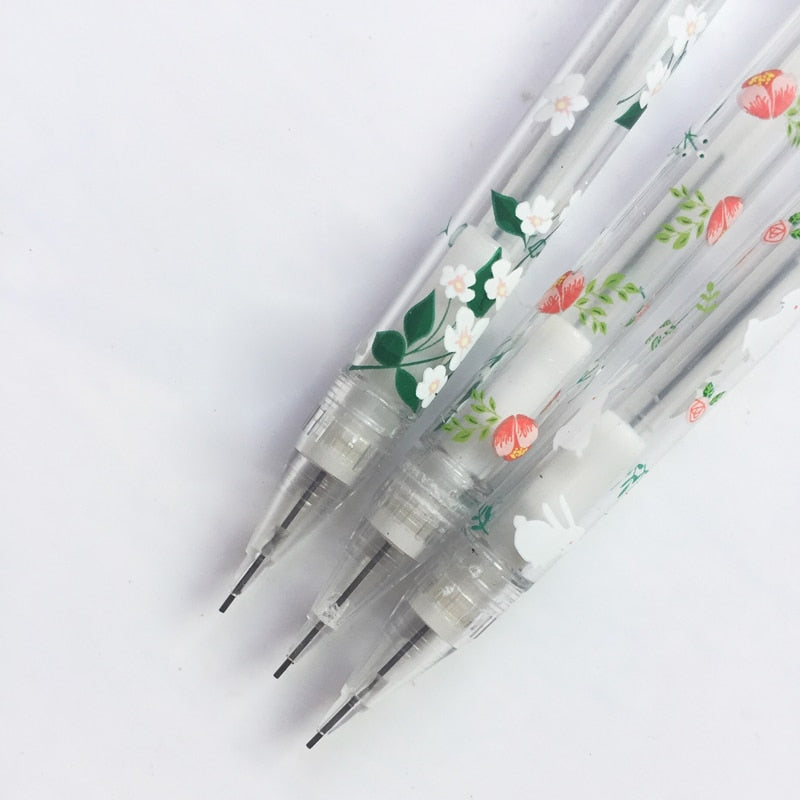 Transparent Floral Lead Pencil (Set of 5)