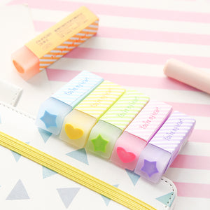 Heart & Star Filled Eraser (Set of 6)