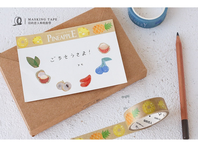 Fruits & Animals Washi Tape (Set of 6)