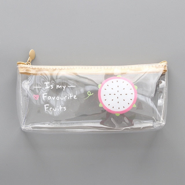 Fruity Transparent Pencil Case