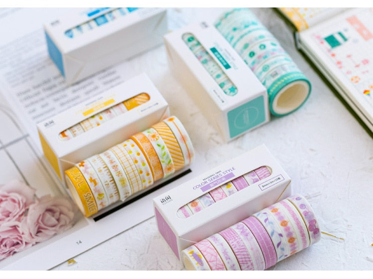 Color Series Washi Tape (Set of 10)