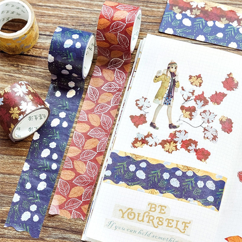 Autumn Leaves Washi Tape (Set of 4)