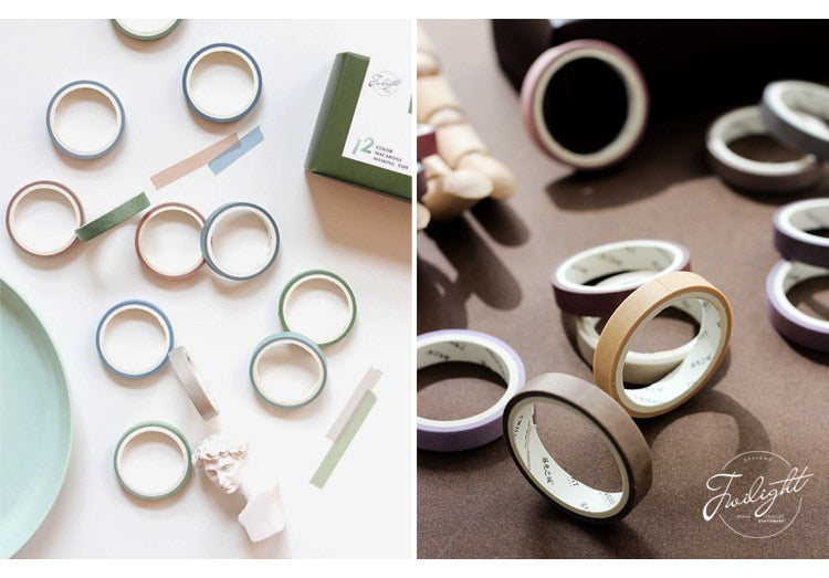 Earth Color Washi Tape (Set of 12)