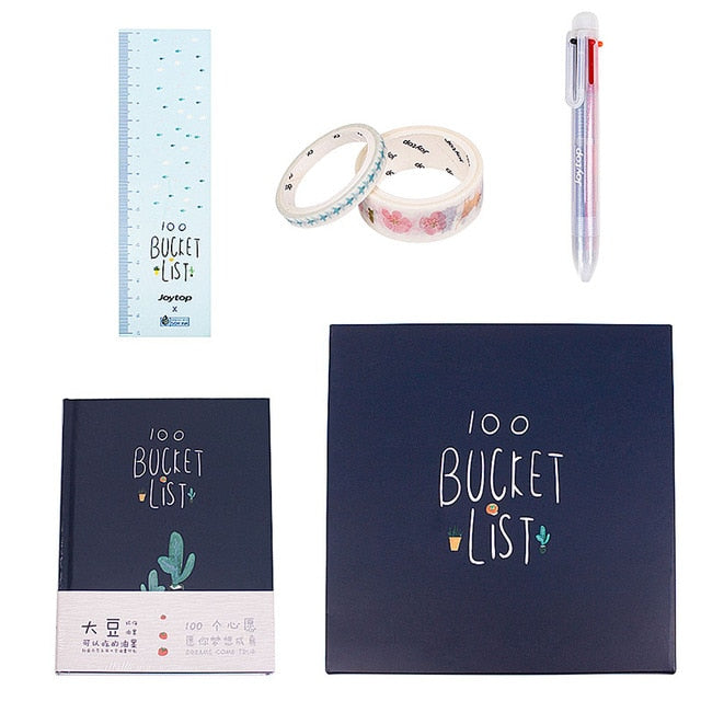 100 Bucket List Notebook Set
