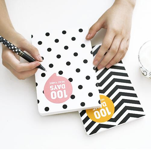 Black & White 100 Days Planner