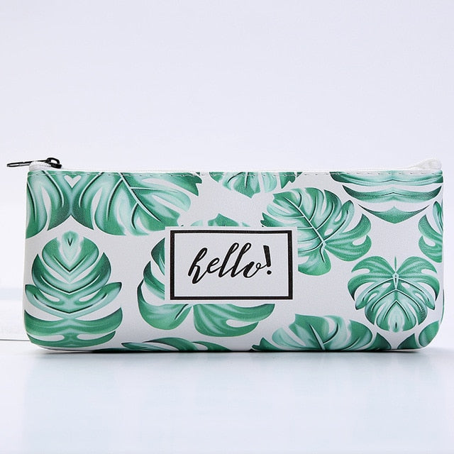 Green Leaves Pencil Case