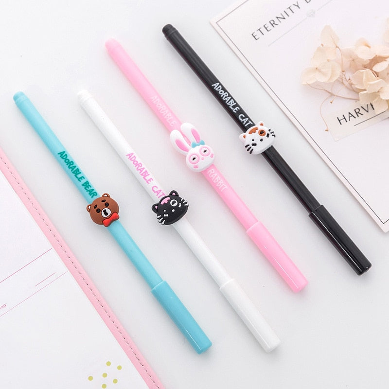 Adorable Animals Gel Pen (Set of 3)