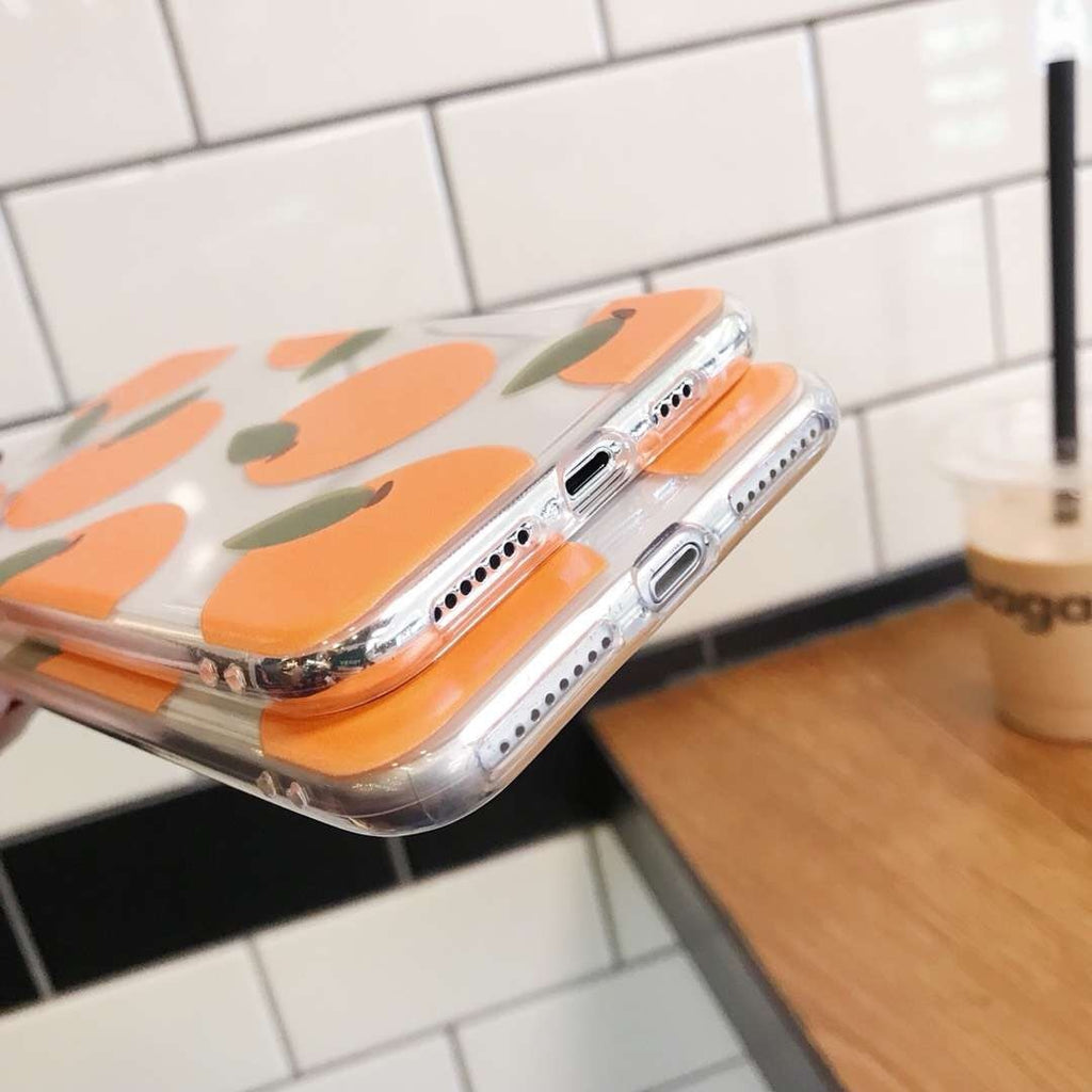 Orange Transparent iPhone Case