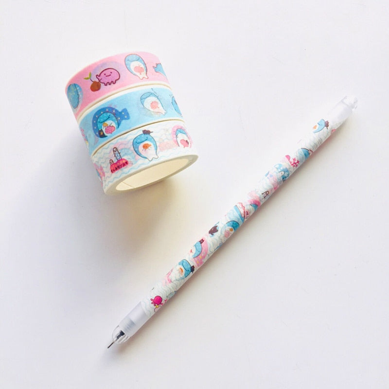Blue Whale Washi Tape