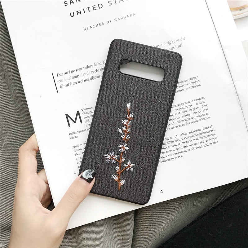 Flower Embroidery Samsung Case