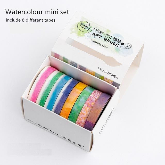 Art Colors Washi Tape (Set of 8)