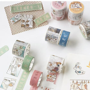Kawaii Duck Washi Tape (Set of 2)