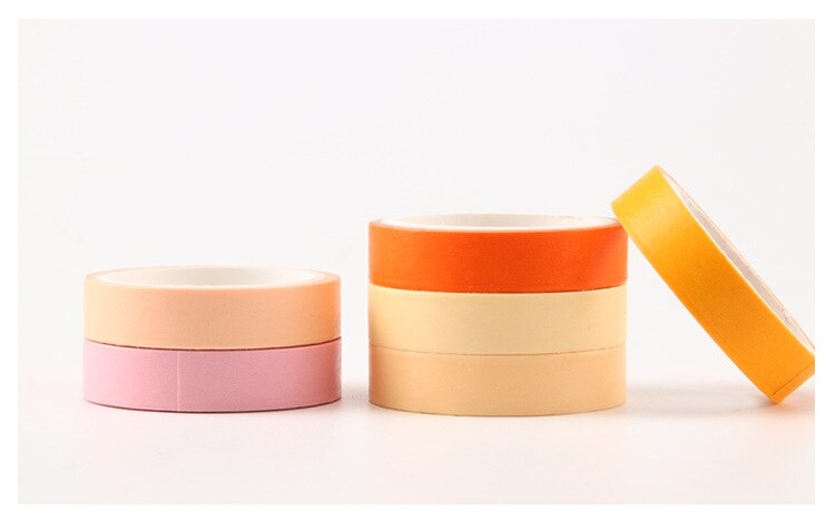 Macaron Color Washi Tape (Set of 6)